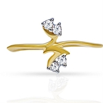 Diamond Ring For Ladies Natural Round Certified Diamond 0.08 Ct Solid Gold  Office Wear