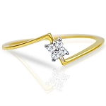 Diamond Ladies Ring Natural Round Certified Diamond 0.06 Ct Solid Gold  Special Occasion