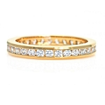 Womens Diamond Rings Natural Round Certified Diamond 0.9 Ct Solid Gold  Party