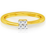 Beautiful Diamond Rings Natural Round Certified Diamond 0.1 Ct Solid Gold  Workwear