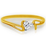 Diamond Gold Ring Natural Round Certified Diamond 0.06 Ct Solid Gold  Vacation