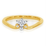 Ladies Diamond Ring Natural Round Certified Diamond 0.11 Ct Solid Gold  Special Occasion