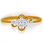 Diamond Ring For Ladies Natural Round Certified Diamond 0.165 Ct Solid Gold  Party