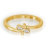 Diamond Ring Designs Natural Round Certified Diamond 0.1 Ct Solid Gold  Office Wear