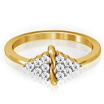 Beautiful Diamond Rings Natural Round Certified Diamond 0.24 Ct Solid Gold  Special Occasion