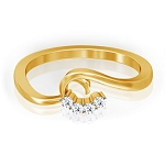 Best Diamond Rings Natural Round Certified Diamond 0.06 Ct Solid Gold  Weekend
