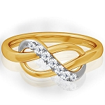 Diamond Ring Designs For Female Natural Round Certified Diamond 0.14 Ct Solid Gold  Everyday