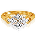 Diamond Ring For Ladies Natural Round Certified Diamond 0.24 Ct Solid Gold  Office Wear