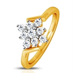 Diamond Ladies Ring Natural Round Certified Diamond 0.18 Ct Solid Gold  Special Occasion