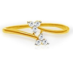 Buy Diamond Ring Online Natural Round Certified Diamond 0.12 Ct Solid Gold  Festive