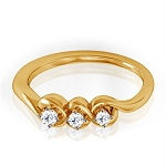 Gold Diamond Rings Natural Round Certified Diamond 0.12 Ct Weekend