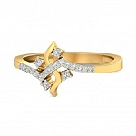 Diamond Ring Designs Natural Round Certified Diamond 0.23 Ct Solid Gold  Party