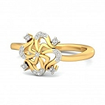 Ladies Diamond Ring Natural Round Certified Diamond 0.17 Ct Solid Gold  Vacation