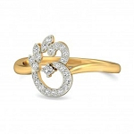 Diamond Ring Designs For Female Natural Round Certified Diamond 0.21 Ct Solid Gold  Office Wear
