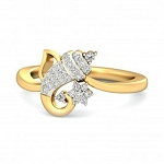 Beautiful Diamond Rings Natural Round Certified Diamond 0.3 Ct Solid Gold  Special Occasion