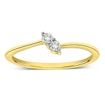 Ladies Diamond Ring Natural Round Certified Diamond 0.06 Ct Solid Gold  Office Wear