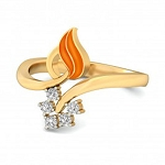 Diamond Ring For Ladies Natural Round Certified Diamond 0.1 Ct Solid Gold  Festive