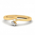 Diamond Gold Ring Natural Round Certified Diamond 0.05 Ct Solid Gold  Party
