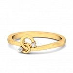 Best Diamond Rings Natural Round Certified Diamond 0.04 Ct Solid Gold  Workwear