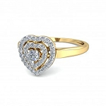 Womens Diamond Rings Natural Round Certified Diamond 0.4 Ct Solid Gold  Vacation