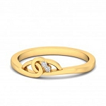 Ladies Diamond Ring Natural Round Certified Diamond 0.04 Ct Solid Gold  Everyday