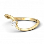Diamond Ring Designs For Female Natural Round Certified Diamond 0.1 Ct Solid Gold  Special Occasion