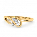 Diamond Ladies Ring Natural Round Certified Diamond 0.08 Ct Solid Gold  Weekend