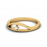 Diamond Ring For Ladies Natural Round Certified Diamond 0.04 Ct Solid Gold  Everyday
