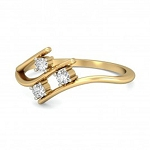 Beautiful Diamond Rings Natural Round Certified Diamond 0.06 Ct Solid Gold  Party