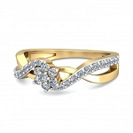 Diamond Gold Ring Natural Round Certified Diamond 0.3 Ct Workwear