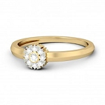 Womens Diamond Rings Natural Round Certified Diamond 0.18 Ct Solid Gold  Everyday