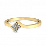 Diamond Ring Designs For Female Natural Round Certified Diamond 0.1 Ct Solid Gold  Festive
