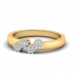 Diamond Ring For Ladies Natural Round Certified Diamond 0.28 Ct Solid Gold  Weekend