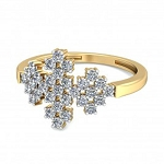 Diamond Gold Ring Natural Round Certified Diamond 0.31 Ct Vacation