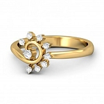 Ladies Diamond Ring Natural Round Certified Diamond 0.18 Ct Solid Gold  Special Occasion