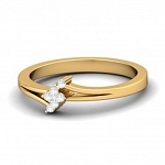 Diamond Ladies Ring Natural Round Certified Diamond 0.09 Ct Solid Gold  Workwear
