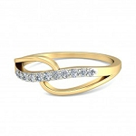 Diamond Ring Designs Natural Round Certified Diamond 0.11 Ct Solid Gold  Office Wear