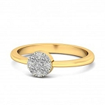 Beautiful Diamond Rings Natural Round Certified Diamond 0.14 Ct Solid Gold  Special Occasion
