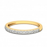 Diamond Gold Ring Natural Round Certified Diamond 0.15 Ct Festive