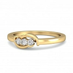 Womens Diamond Rings Natural Round Certified Diamond 0.1 Ct Solid Gold  Party