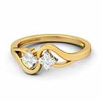 Gold With Diamond Ring Natural Round Certified Diamond 0.16 Ct Vacation