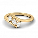 Diamond Ring Designs For Female Natural Round Certified Diamond 0.16 Ct Solid Gold  Everyday