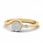 Diamond Ring For Ladies Natural Round Certified Diamond 0.16 Ct Solid Gold  Office Wear