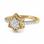 Diamond Ladies Ring Natural Round Certified Diamond 0.25 Ct Solid Gold  Special Occasion