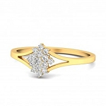 Diamond Ring Designs For Female Natural Round Certified Diamond 0.22 Ct Solid Gold  Party