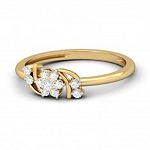 Diamond Ladies Ring Natural Round Certified Diamond 0.17 Ct Solid Gold  Vacation