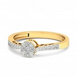 Buy Diamond Ring Online Natural Round Certified Diamond 0.26 Ct Solid Gold  Everyday
