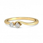 Diamond Ring Designs Natural Round Certified Diamond 0.1 Ct Solid Gold  Special Occasion