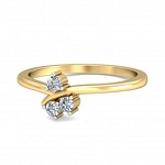 Beautiful Diamond Rings Natural Round Certified Diamond 0.12 Ct Solid Gold  Festive
