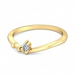 Best Diamond Rings Natural Round Certified Diamond 0.06 Ct Solid Gold  Party